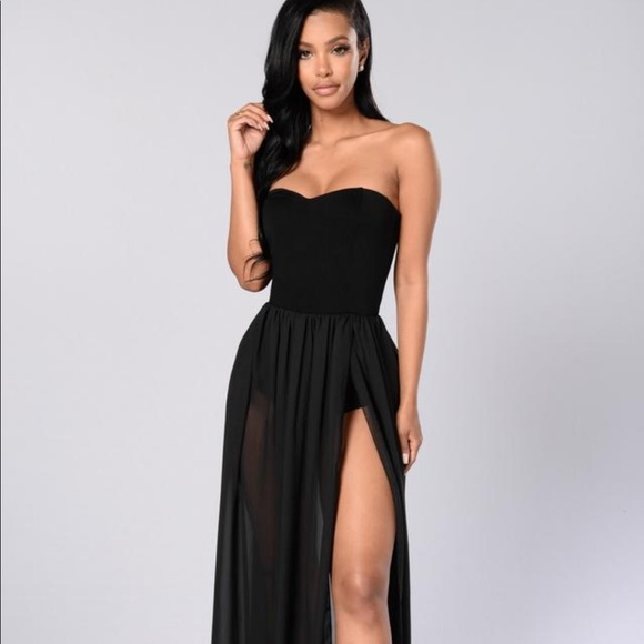 b845dbcd6c7b Fashion Nova Dresses | Sexy Black Maxi Dress | Poshmark